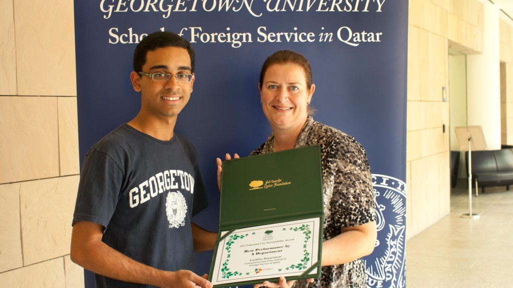 Georgetown University SFS-Q Charts a New Course in Environmental Sustainability