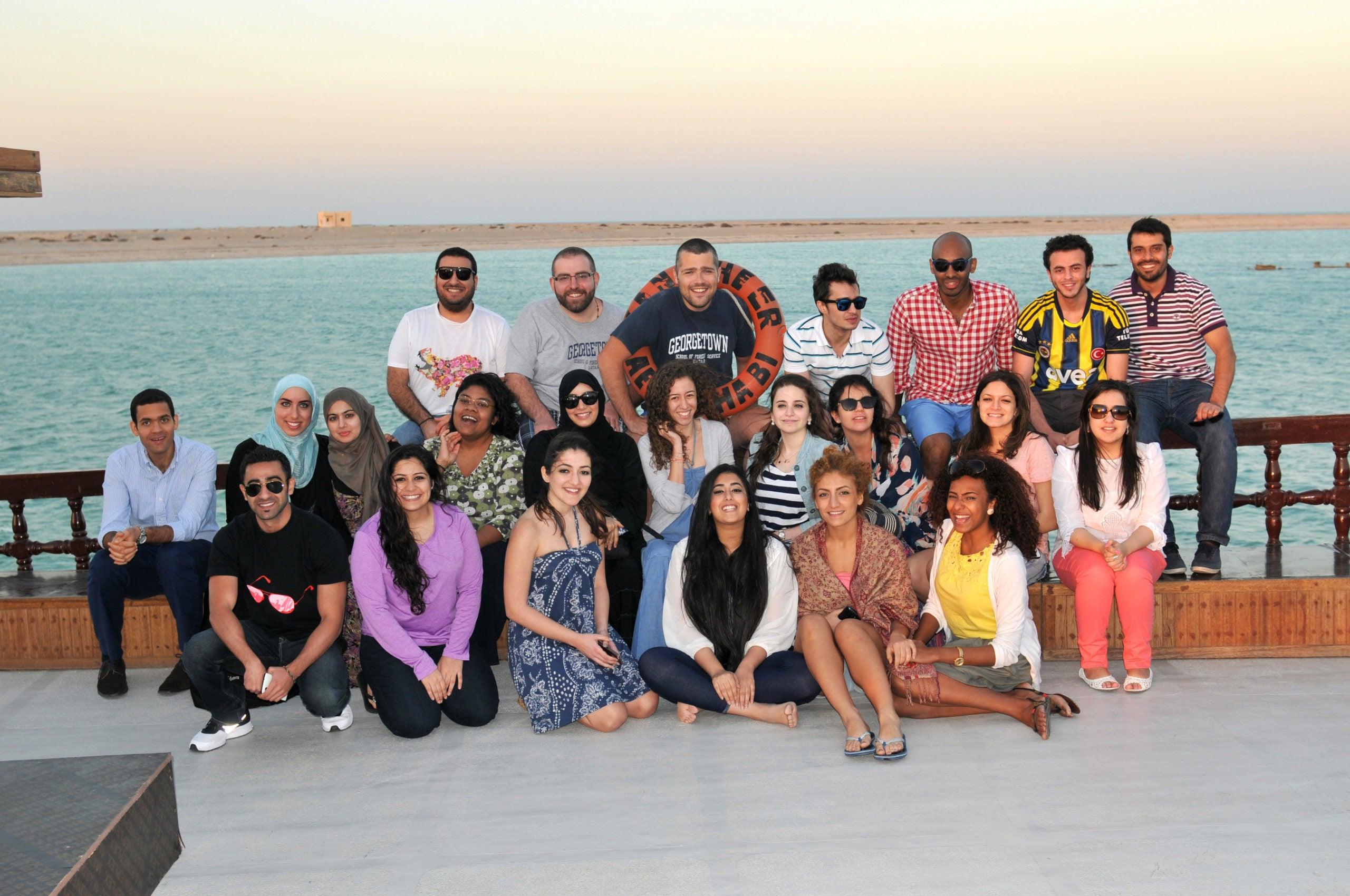 Graduates and Seniors Reconnect with GCC Alumni Club Dhow Trip
