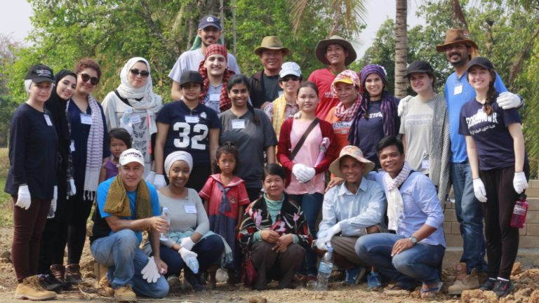 Group shot of the GUQ team in Cambodia