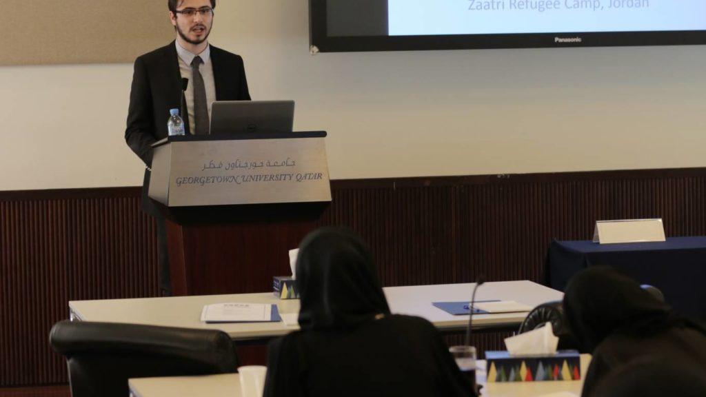 Student presenting during the M.E.S.S.A Conference