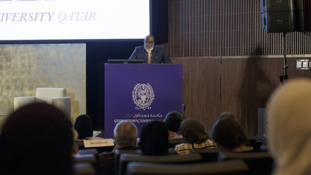 Dr. Sherman Jackson during the lecture