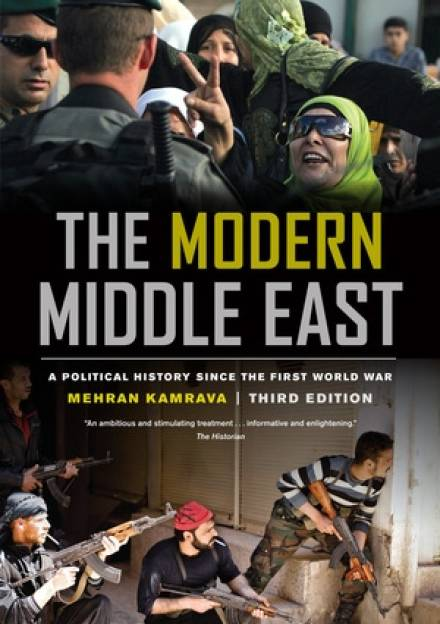 Book cover of The modern Middle East: a political history since the First World War by Mehran Kamrava.
