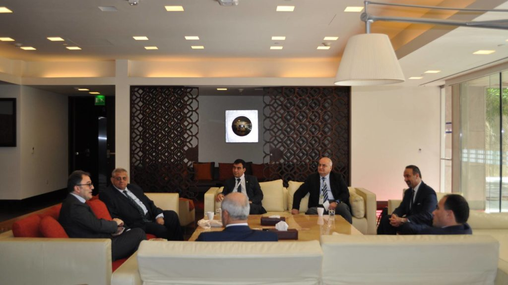 Dean Dallal and Director of CIRS Mehran Kamrava explore academic opportunities with a delegation from Eastern Mediterranean University