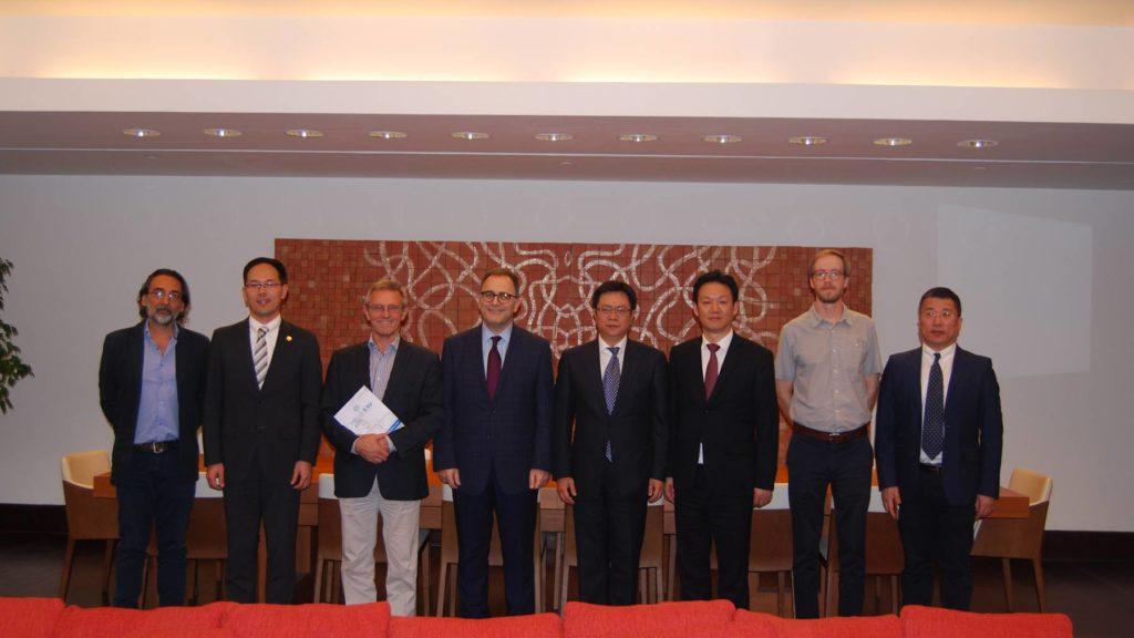 Shanghai International Studies University Delegation Meeting with Dean Ahmad Dallal