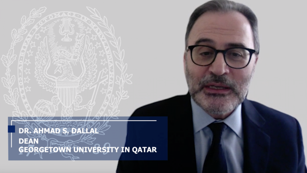 Dean Ahmad Dallal during the Virtual Tropaia Ceremony