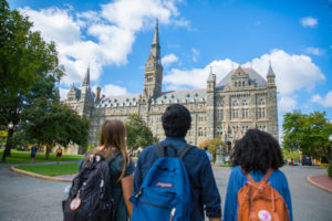 Students at Georgetown University