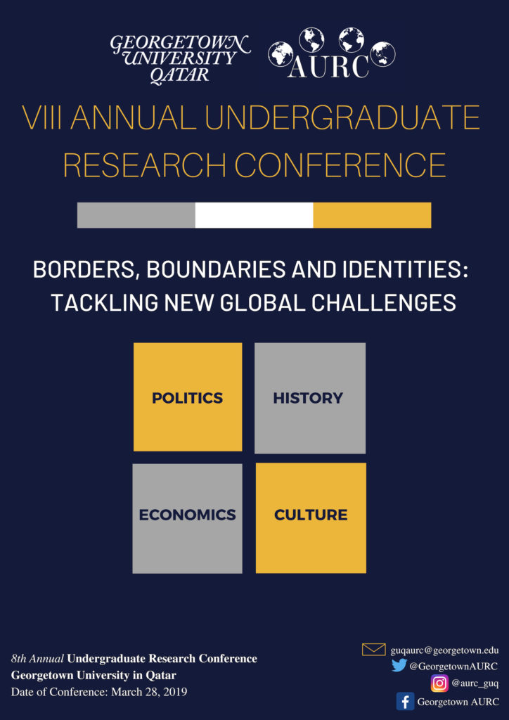 Annual Undergraduate Research Conference: Borders, Boundaries, and Identities: Tackling New Global Challenges