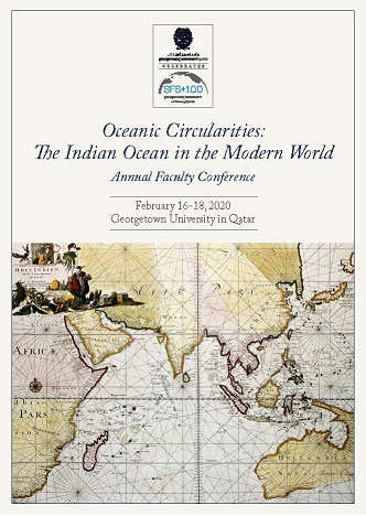 Poster for Annual Faculty Conference - Oceanic Circularities: The Indian Ocean in the Modern World
