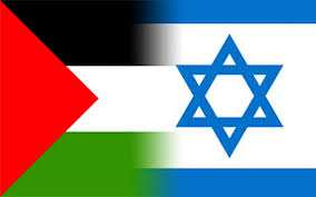 palestine and israel flags
