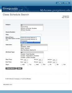 Class Schedule Search