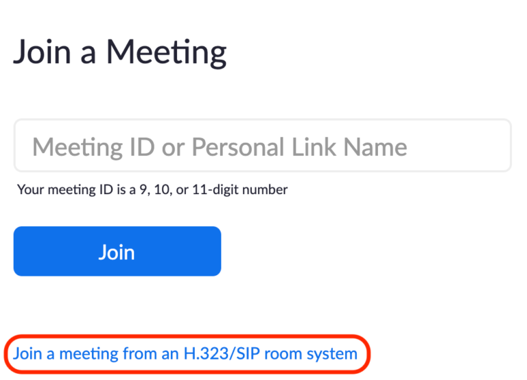 Join a Zoom meeting from a room