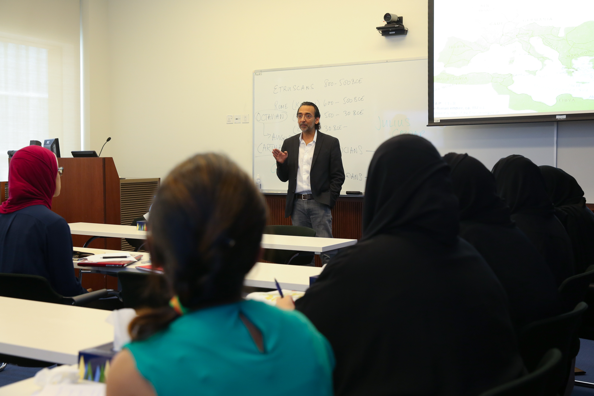 instructor in front of a class