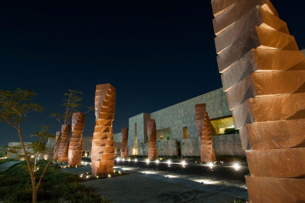 GU-Q building pillars