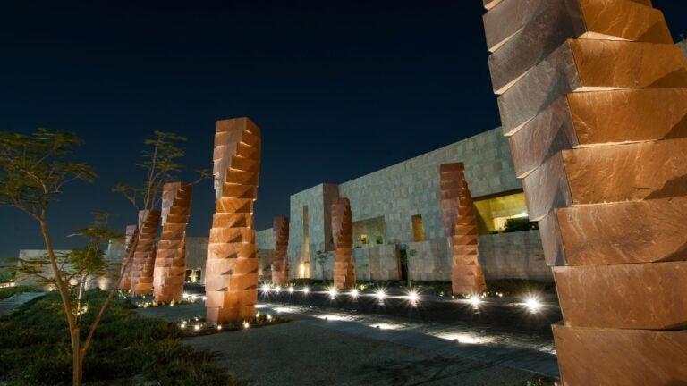 Pillars in front of GU-Q building