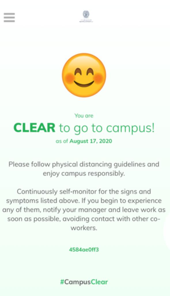 GU-Q #CampusClear App Clear