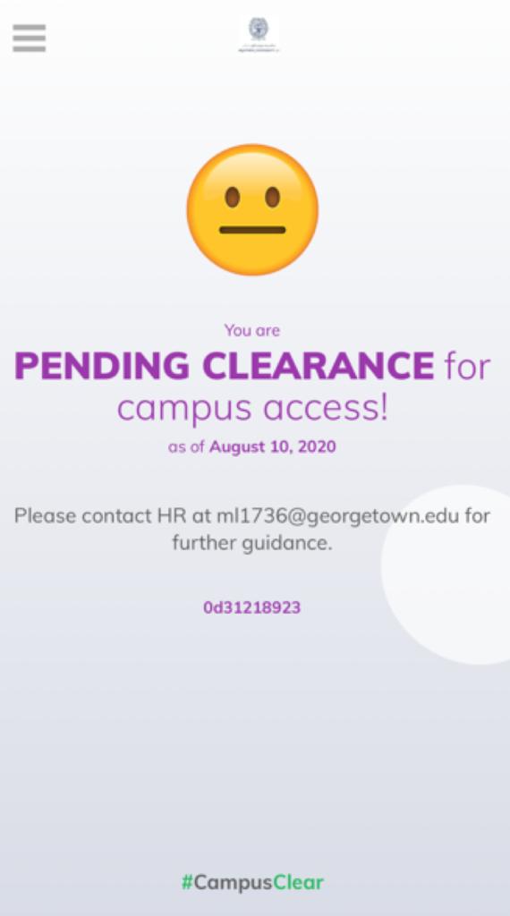 GU-Q #CampusClear App Pending