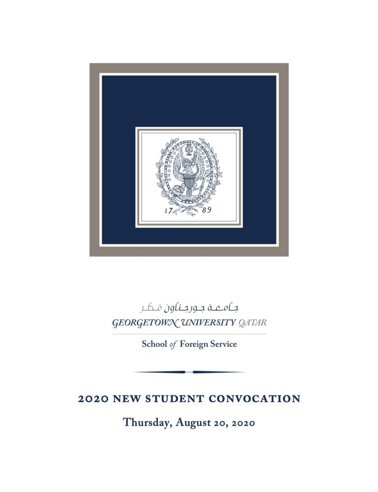 2020 New Student Convocation