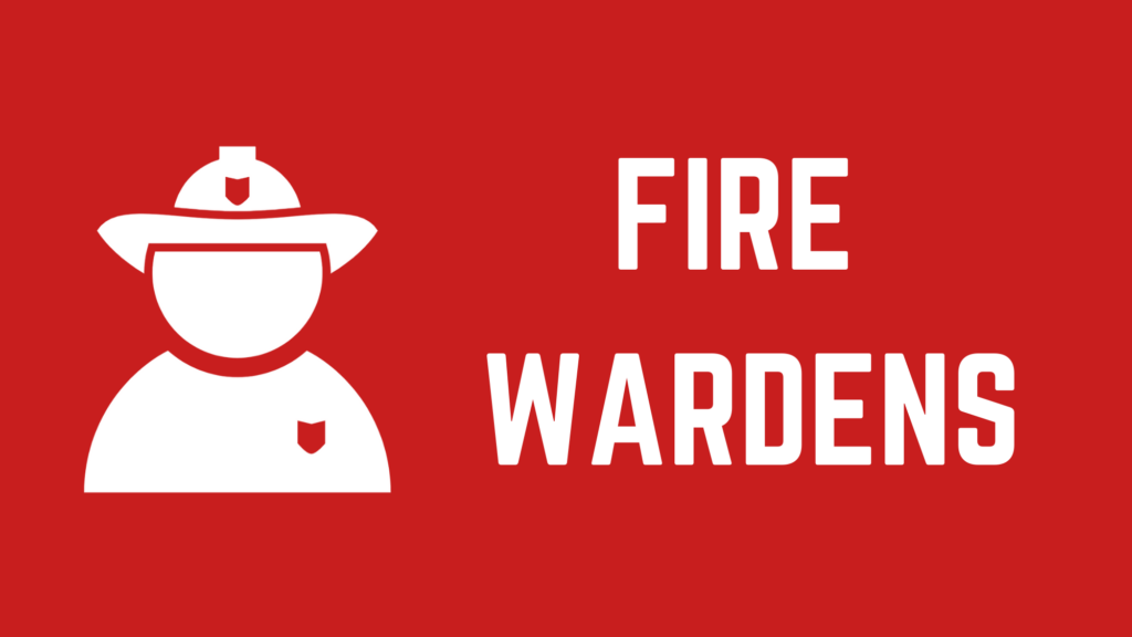 """Image of a fire chief with the text """"Fire Wardens"""""""