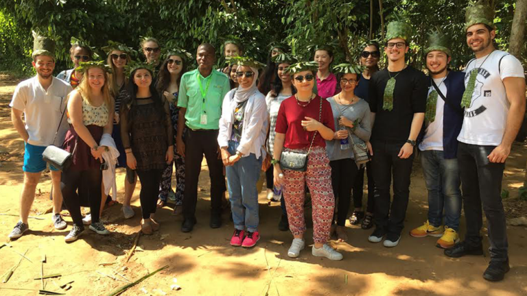 GU-Q students on a Zones of Conflict, Zones of Peace trip in 2016.