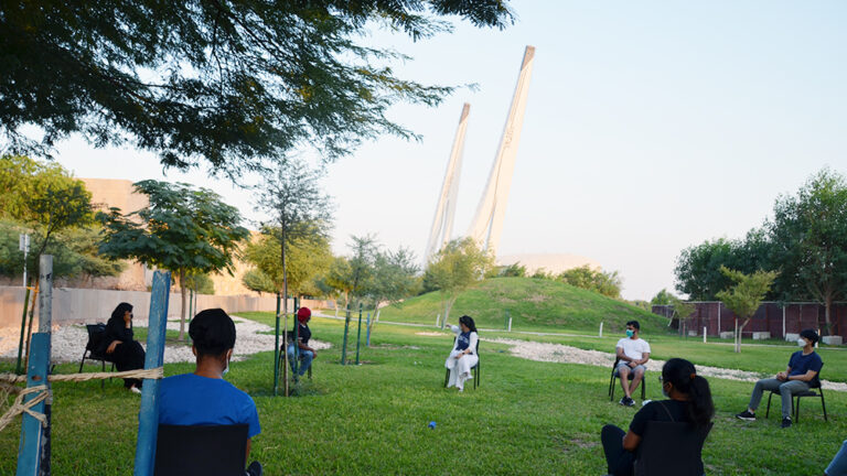 Walking Back to Normal: Georgetown Students Have First Outdoor Event at QF's Oxygen Park