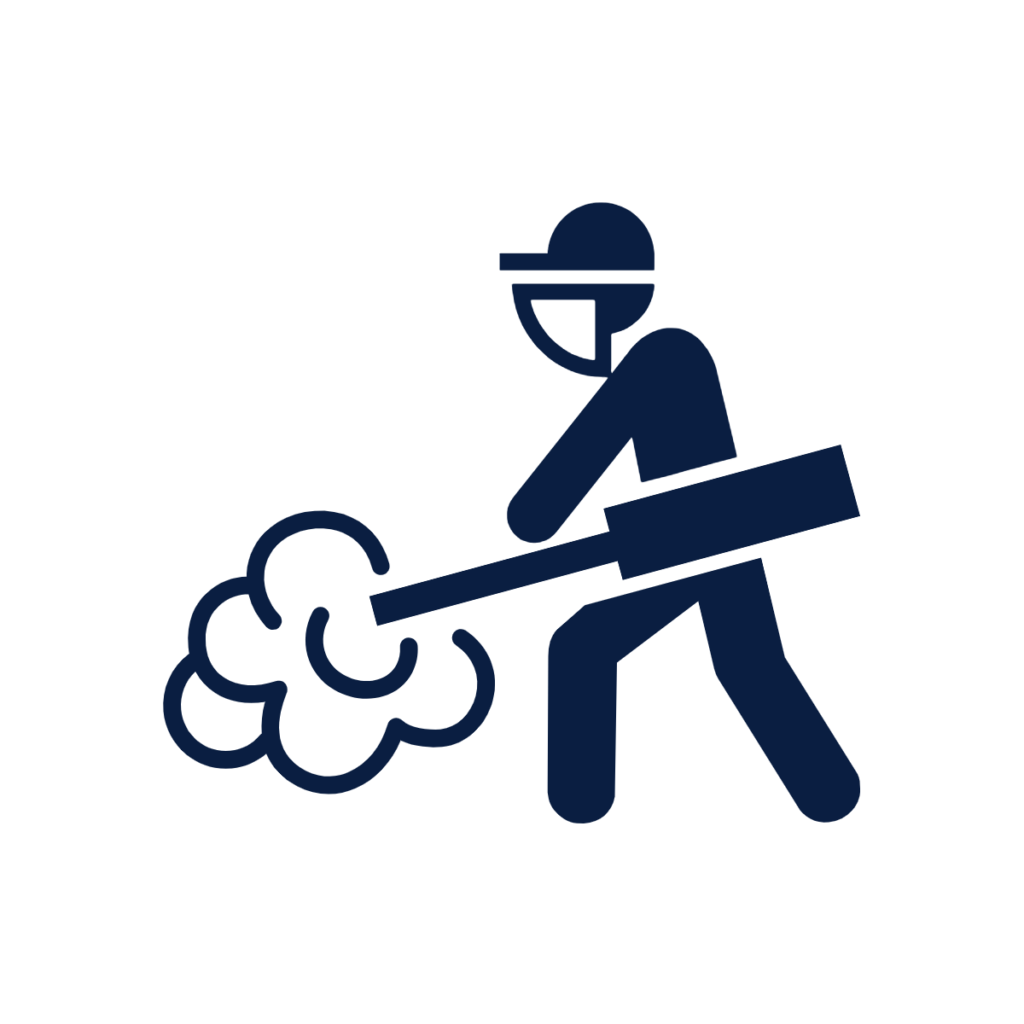 Image of a person spraying pesticide.