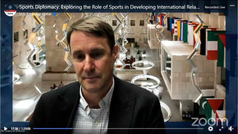 Head of Building a Legacy CIRS Research Initiative Shares Insights on U.S. Embassy Webinar on Sports Diplomacy