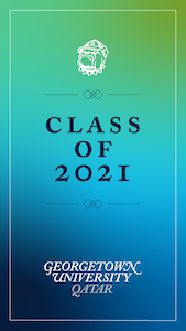 Image with the words Class of 2021