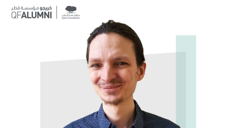 """Picture of Asim smiling at the camera, with a text box containing """"Join our next alimni Talk: Water Scarcity and Climate Change with Asim Kodzo   5 September   8-9 pm"""". He is wearing a blue shirt with hair slicked back, and has a light goatee and moustache"""